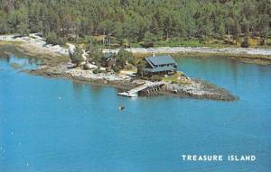East Boothbay Maine Treasure Island Aerial View Vintage Postcard JA4741421
