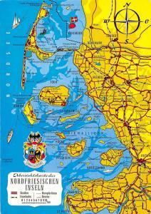 Nordfriesischen Inseln Stadtplan Map Langeness Die Halligen Pellworm