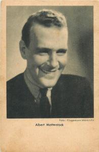 Stage & screen actors postcard Albert Matterstock  1940s cinema stars history