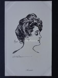 Pictorial Comedy ANNIE Lady Drawing by Artist W. Gibson c1910 by James Henderson
