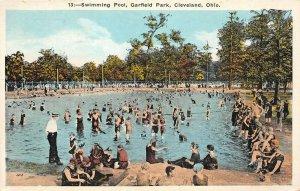 LP03 Cleveland Ohio Garfield Park Swimming Pool  Postcard