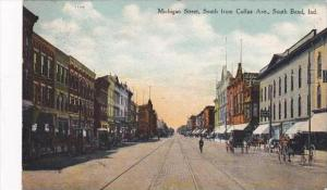 Indiana South Bend Michigan Street South From Colfax Avenue 1910