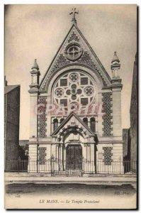 Postcard Old Religion prostestante Le Mans