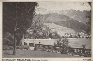 Chocolat Sechaud Montreux Switzerland Old Postcard