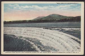 Spillway,Ashokan Reservoir,Catskill Mts,NY Postcard