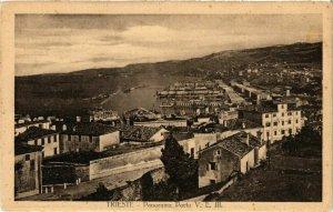 CPA TRIESTE Panorama V. E. III. ITALY (397362)