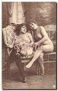 Old Postcard naked women erotic