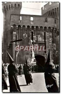 Postcard Modern Perpignan Holy Week procession in Roussillon La Sanch The pro...