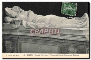 Old Postcard Dreux Chapelle Saint Louis Tomb of the Duke of Nemours Country