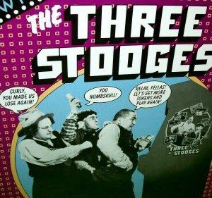 The Three Stooges Arcade FLYER Original 1984 Moe Larry Curly Game Art Print