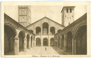 Italy, Milano, Basilica di S. Ambrogio, 1920s used Postcard