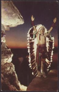 The Sunrise Call,Stand Rock Indian Ceremonial Postcard