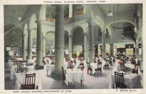 HAVANA, Cuba, 1900-10s; Dining Room , Florida Hotel