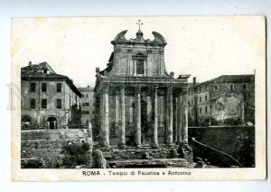 192715 ITALY ROMA Tempio di Faustina Antonino RPPC from LIBIA
