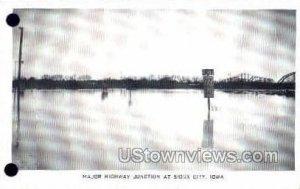 Major Highway Junction - Sioux City, Iowa IA