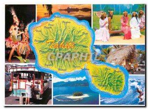 Modern Postcard Island of Tahiti