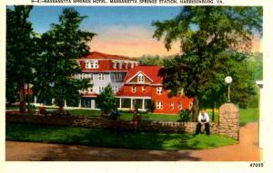 VA - Harrisonburg. Massanetta Springs Hotel and Station