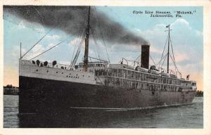 Jacksonville Florida Clyde Line Steamer Mohawk Antique Postcard K28843