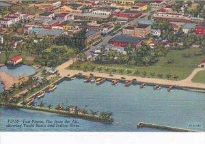Florida Fort Pierce Yacht Basin Aerial View