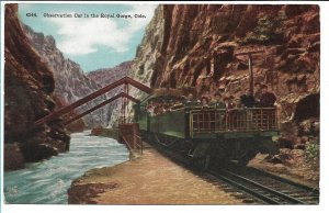 Canon City, CO - Observation Car in the Royal Gorge - 1912