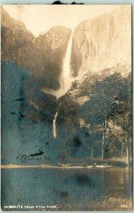 YOSEMITE NATIONAL PARK RPPC Postcard Falls & The River PILLSBURY Photo 1034