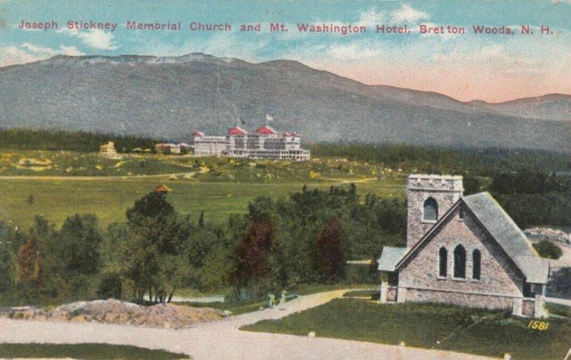 BRETTON WOODS, NH,00-10s; Joseph Stickney Memorial Church & Mt. Washington Hotel