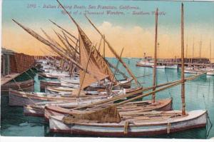 California San Francisco Italian Fishing Boats