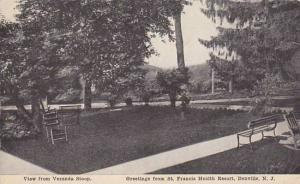 New Jersey Denville View From Veranda Stoop Greetings From Saint Francis Heal...