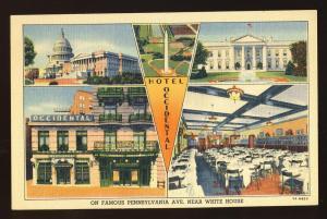 Washington, DC Postcard, Hotel Occidental Multi-View