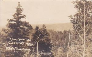 New Mexico Cloudcroft White Mountain Scene Real Photo RPPC