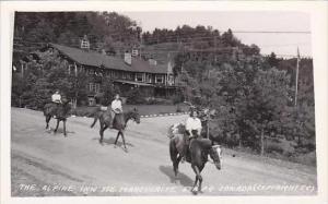 Canada Quebec Ste Marguerite Alpine Inn Horseback Riders Real Photo