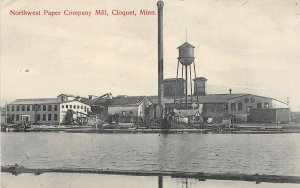 H11/ Cloquet Minnesota Postcard 1910 Northwest Paper Mill Company Factory