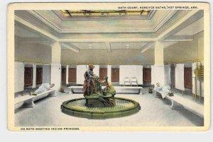 PPC POSTCARD ARKANSAS HOT SPRINGS BATH COURT FORDYCE BATHS DE SOTO MEETING INDIA