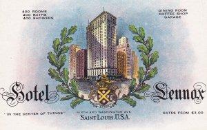SAINT LOUIS, Missouri, 1900-1910s; Hotel Lennox