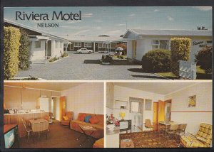 New Zealand Postcard - Riviera Motel, Golf Road, Tahunanui, Nelson  LC3969