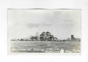 Vtg 1918-1930 AZO RPPC Coaling Station, Guantanamo Bay, Cuba Photo Postcard