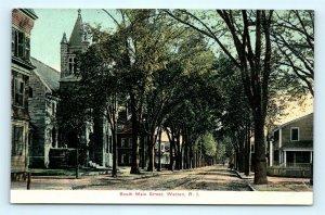 Postcard RI Warren South Main Street Pre 1908 Dirt Streets View F23