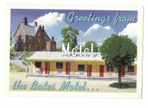 Bates Motel Sick Humor Card With Message Norman Bates Continental 4 by 6 card