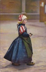Netherlands Marken Young Girl In Traditional Dress