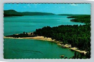 Deep River ON-Ontario Canada, Ryan's Campsite Aerial View, Chrome Postcard