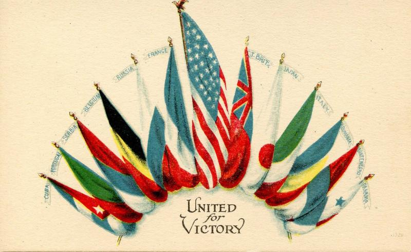 Patriotic - United For Victory WWI, Flags