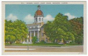 Marianna, Florida, Vintage Postcard View of Jackson County Court House