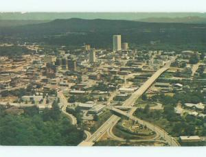 Unused Pre-1980 AERIAL VIEW OF TOWN Greenville South Carolina SC n2092
