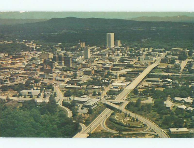 Unused Pre-1980 AERIAL VIEW OF TOWN Greenville South Carolina SC n2092