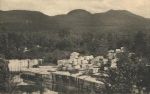 White Vermont Marble Quarry Manchester In The Mountains VT Vintage Postcard E2