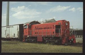 Hutchinson Northern 5  Alco S-1 Train Carey Salt Plant Kansas Railroad Postcard
