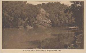 ArkansasRogers Standing Rock White River Albertype