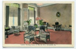 Ladies' Writing Room De Soto Hotel Savannah Georgia 1920s postcard