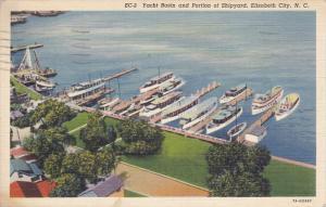 ELIZABETH CITY, North Carolina, 1930-1940's; Yacht Basin And Portion Of Shipyard