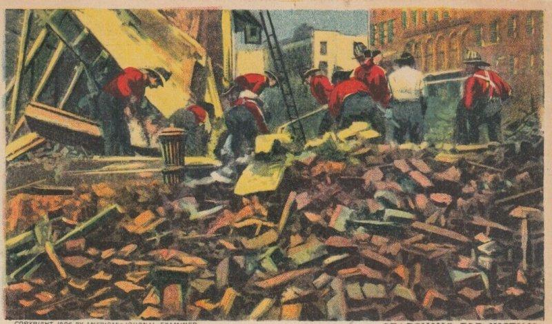 SAN FRANCISCO, California;  1906 ; Earthquake Damage #3